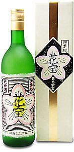 純米大吟醸 四季桜 花宝 pretty sake bottle and box PD