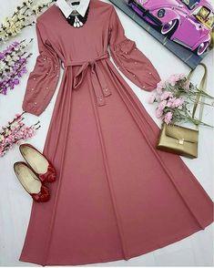 Modest Dresses, Stylish Dresses, Cute Dresses, Beautiful Dresses, Abaya Fashion, Muslim Fashion, Fashion Dresses, Hijab Style Dress, Mode Abaya