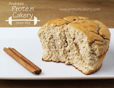 Cinnamon Apple Protein Cake - Andréa's Protein Cakery -- Prot: 22 g, Carbs: 18 g, Fat: 2 g, Cal: 178 -- #glutenfree #gf #grainfree #highprotein