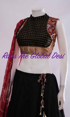 CHANIYA CHOLI 2018 Silk Chania with designer brocade blouse and contrast dupatta Choli Blouse Design, Saree Blouse Neck Designs, Simple Blouse Designs, Kurta Neck Design, Stylish Blouse Design, Choli Designs, Designer Blouse Patterns, Skirt Patterns, Coat Patterns