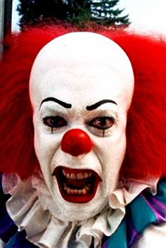 """OMG!!! Read the book when I was a teenager and I swear I could not sleep due to this clown! Pennywise: """"I'll kill you all! Ha-ha! I'll drive you crazy and then I'll kill you all! I'm every nightmare you ever had! I am your worst dream come true! I'm everything you ever were afraid of!"""""""