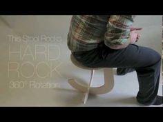 We love the stool that rocks! #polyurethanes #design