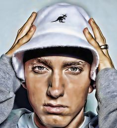Eminem | Debuted in 1990 | Won the Academy Award for Best Original Song for Lose Yourself, becoming the first rap artist ever to win the award | Founded his own charity named The Marshall Mathers Foundation which assists disadvantaged youth | Artwork by Anish [©2013-2014 anish-11k]