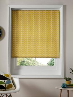 Buy Tomato Orla Kiely Linear Stem Roller Blind from our Ready Made Blinds range at John Lewis & Partners. Wooden Blinds Kitchen, Orla Kiely, Kitchen Blinds, Roller Blinds, Window Coverings, Waterproof Blinds, Thick Curtains, Blinds, Small Living