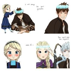 Elsa's guardian Jack Frost Disney! ❤ liked on Polyvore featuring disney