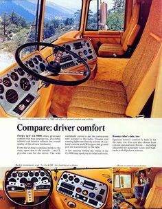 Big Ford Trucks, Big Rig Trucks, Semi Trucks, Old Trucks, Sterling Trucks, Truck Transport, Cab Over, Truck Interior, Heavy Truck