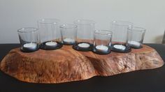 Live edge burl maple candle centerpiece, Handmade live edge wood candle holder…