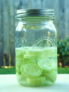 Cucumber Vodka -- Have to try this now that I've fallen in love with Cucumber Lemonade - My Blueberry Vodka is always a hit - so this is my next Experiment!