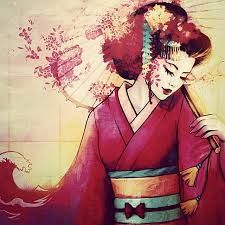 Afbeeldingsresultaat voor geisha drawing