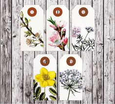 flower tag printables
