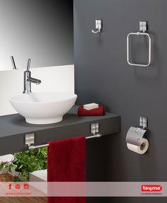 Os presentamos el conjunto de accesorios para baño TOKIO  La línea de accesorios Tokio de #Toyma ofrece dos acabados que buscan aportar las máximas posibilidades decorativas a tu cuarto de #baño de manera funcional y elegante.