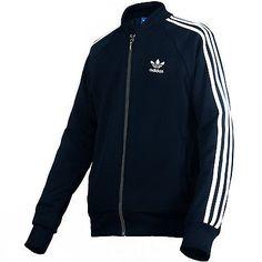 Adidas Superstar Track Jacket Mens AB9715-CONAVY Navy Blue White Top Size 2XL