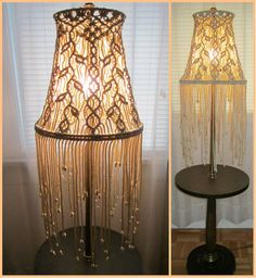 Macrame Lampshade for Floor Lamp Sprigs Handmade by craft2joy