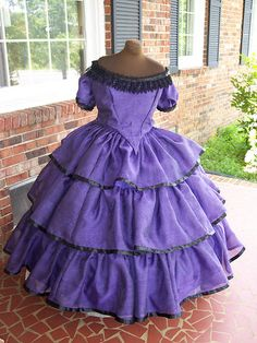 plus size flounced/tiered civil war ball gown