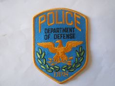 US Dept of Defence Police my collection