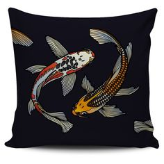 $5 FLASH SALE - Koi Fish Pillow Set: 2 of 3  - Colorful zentangle inspired pillow covers!