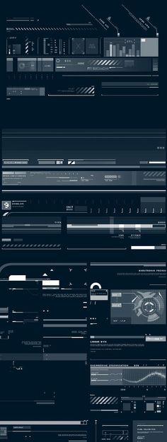 Z-DESIGN Tech Brushes Set v5  design ui user interface blue white future minimal. If you like UX, design, or design thinking, check out theuxblog.com