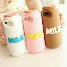 Milk container phone cases!! can't believe this is real