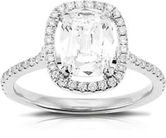 2.03ct Cushion Cut GIA F/SI1 Henri Daussi Diamond Engagement Ring  : This beautiful complete ring by Henri Daussi #CWS features a 2.03ct cushion cut diamond in the center that is a GIA certified F/SI1 with round brilliant cut diamonds set around it as well as down the shank.