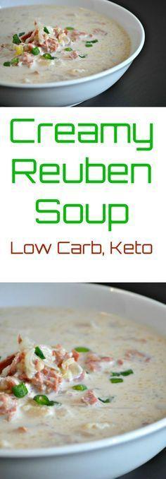 Creamy Reuben Soup – Low Carb, Gluten Free via @PeaceLoveLoCarb