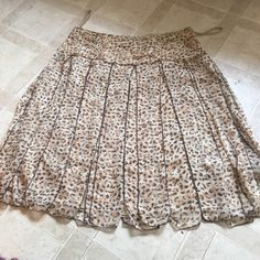 Animal print silk skirt Animal print skirt silk Skirts High Low