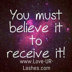 Believe it and receive it. You must believe in what God says concerning his promise unto his children. Believe! Positive Thoughts, Positive Quotes, Positive Mindset, Positive Attitude, Attitude Quotes, Positive Vibes, Earth Powers, I Am Affirmations, Prosperity Affirmations