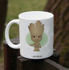 cute groot smiley for coffee Mug Two Sides Ceramic 11oz