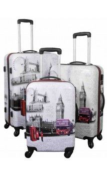 4aae4f37b Juego maletas Londres en MaletasOriginales.com Viaje Juvenil, Maletas  Baratas, Mochila Maleta,