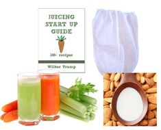 Nut Milk Pulp Strainer Bag XL 1 gal  Juicing Recipe Sprouting eBook Juicing Start Up Guide -- Want to know more, click on the image. (This is an affiliate link)