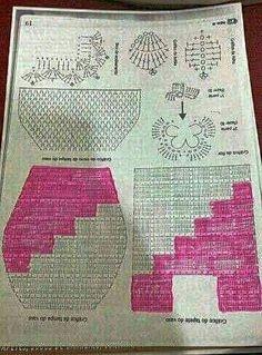 Crochet Blouse, Knit Crochet, Crochet Diagram, Crochet Patterns, Bathroom Sets, Little Things, Bathroom Accessories, Doilies, Blanket