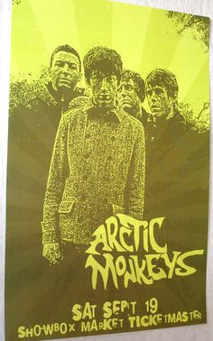 Arctic Monkeys They look a bit modish in this poster  http://concertposter.org/arctic-monkeys-concert-posters/