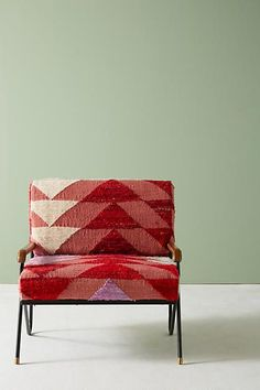 Anthropologie Silk Rug Accent Chair