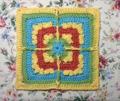 Ravelry: LisaSh's * Frosted Crochet Clusters Afghan square 9-inch