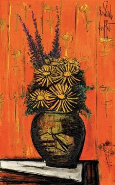 Bernard Buffet - Bouquet au vase chinois I, 1967,...
