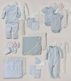 Burt's Bees Baby Sky A Sweet Abundance Organic Layette Set - Infant Toddler Girl Outfits, Toddler Fashion, Baby Outfits, Baby Bundles, Bump Style, Organic Baby Clothes, Burts Bees, Baby Room Decor, Baby Love