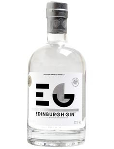Edinburgh Gin — designer unknown.   I love Edinburgh, and I love gin.  It is heaven just knowing that this exists.  Now, to try the raspberry and the elderflower flavours!