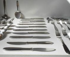 #1940s #GeorgJensen #Mitra #stainless #flatwaredinnerservice #completeset63pcs  http://www.ebay.com/itm/1940s-Georg-Jensen-Mitra-stainless-flatware-dinner-service-complete-set-63-pcs-/261670547128?