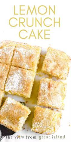 Lemon Dessert Recipes, Baking Recipes, Cake Recipes, Baking Ideas, Brunch Recipes, Breakfast Recipes, Just Desserts, Delicious Desserts, Yummy Food