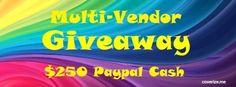 Multi-vender giveaway for $250 cash | Giveaway Hunt - an international giveaway blog Giveaways, Graphic Design, App, Facebook, Link, Blog, Apps, Blogging, Visual Communication