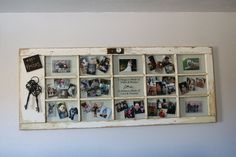 Old Patio Door Turned Wall Photo Collage