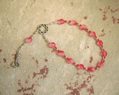 Aphrodite Mini Prayer Beads: Greek Goddess of Love and Beauty by HearthfireHandworks on Etsy