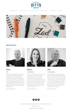 Ditto Creative new website meet the team