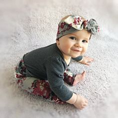 Organic Floral Leggings and Headband Set / Baby Gift Set / Baby Girl Outfit / Newborn Girl Coming Home Outfit / Preemie Clothes Baby Outfits, Newborn Outfits, Baby Girl Gift Sets, Baby Set, Baby Girls, Baby Girl Leggings, Baby Pants, Floral Leggings, Colorful Leggings