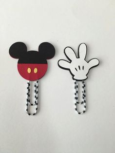 Mickey Mouse planner clips (set of 2)-Disney planner clips-planner decor-planner…