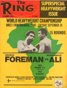 The most famous fight in boxing history? Sports Images, Sports Photos, Muhammad Ali Boxing, John Daly, Boxing Posters, World Boxing, World Heavyweight Championship, Float Like A Butterfly, Boxing Champions