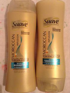 Suave moroccan infusion shine shampoo and conditioner