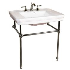 Drew 30″ Console with Brass Stand – Barclay Products Limited