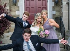 "Siblings...One of my favorites! Being silly and having fun is the best way to do family ""formals""...creates best memories. . . #maggiejphotography #weddingphotography #SMPShareYourStory #huffpostido #beautifulwedding #weregettinghitched #weddinginspiration #bestfriends #brothersandsisters"