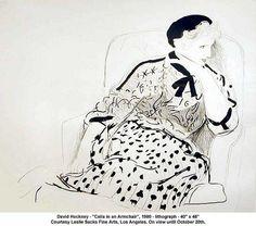 "David Hockney - ""Celia in an Armchair"", 1980 by artimageslibrary, via Flickr"