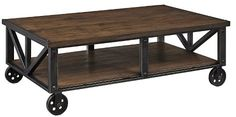 Ashley Furniture Zenfield Coffee Table - Medium Brown - Signature Design®
